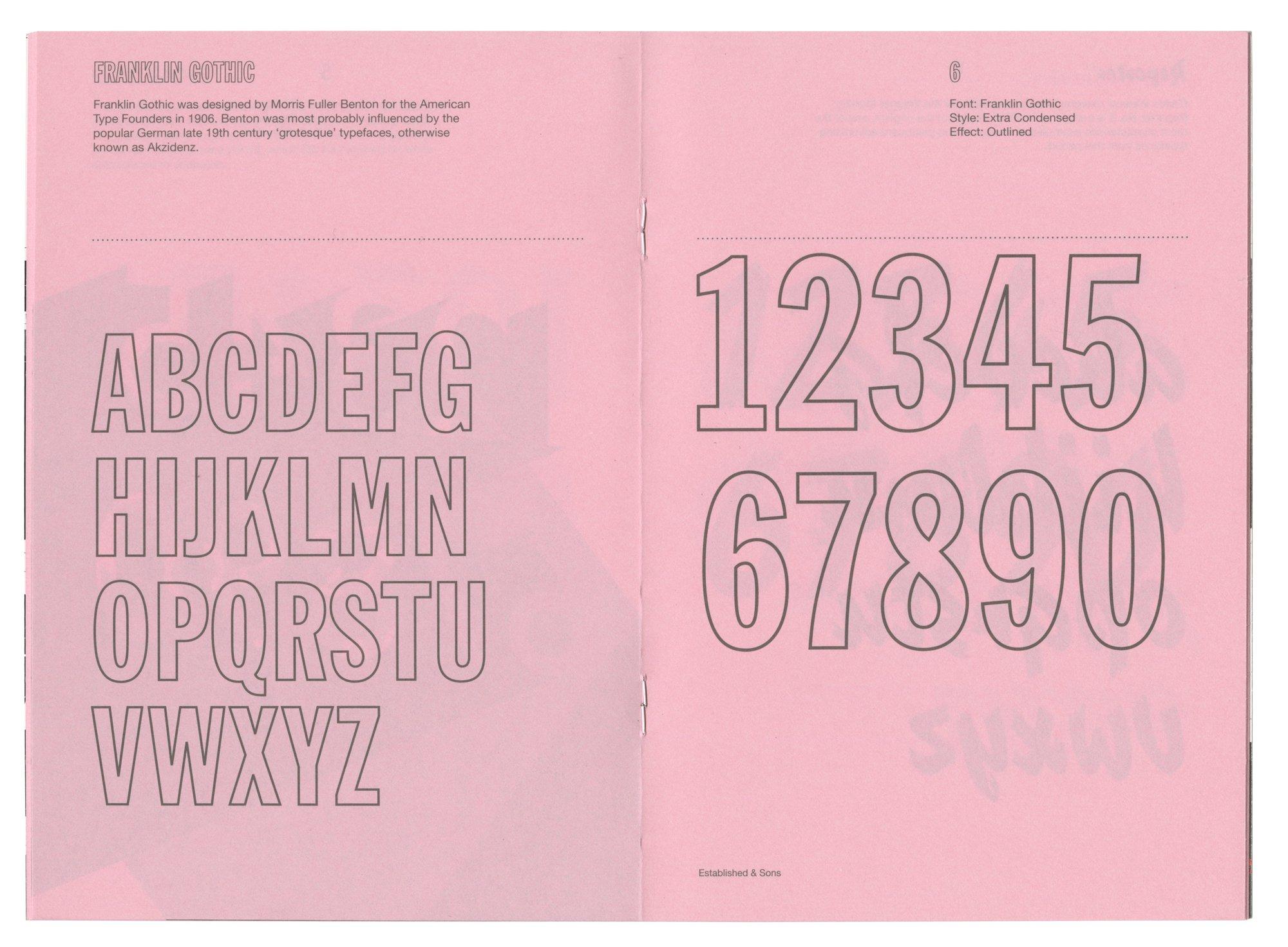 Font Clock Booklet ← Established & Sons ← Polimekanos