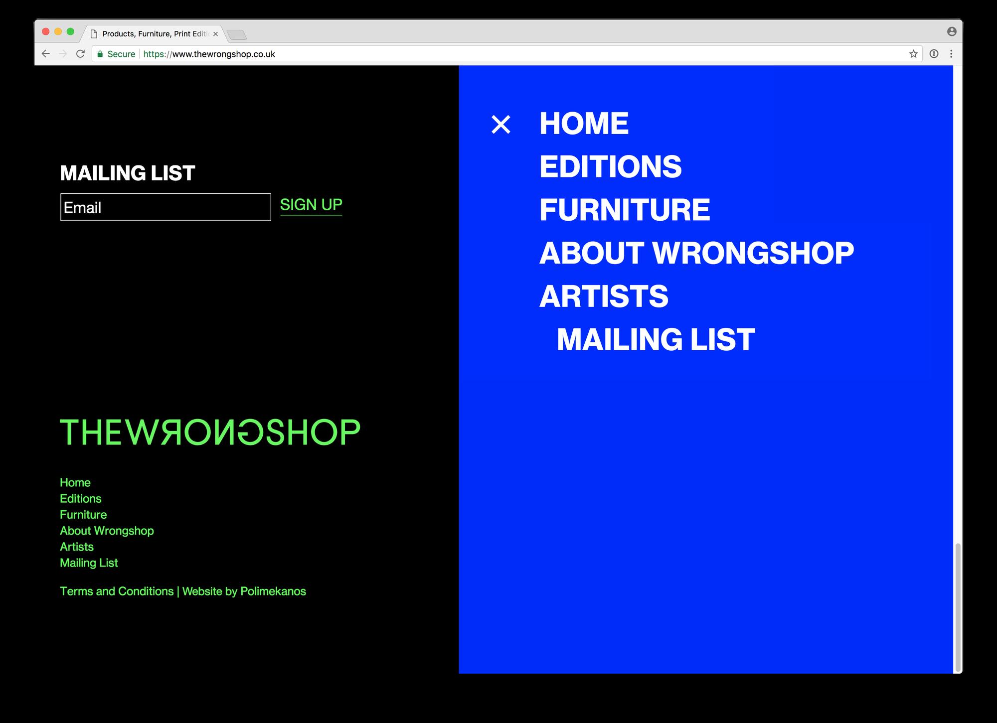 Website ← The Wrongshop ← Polimekanos